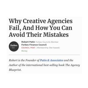 Why Creative Agencies & Marketing Agencies Fail