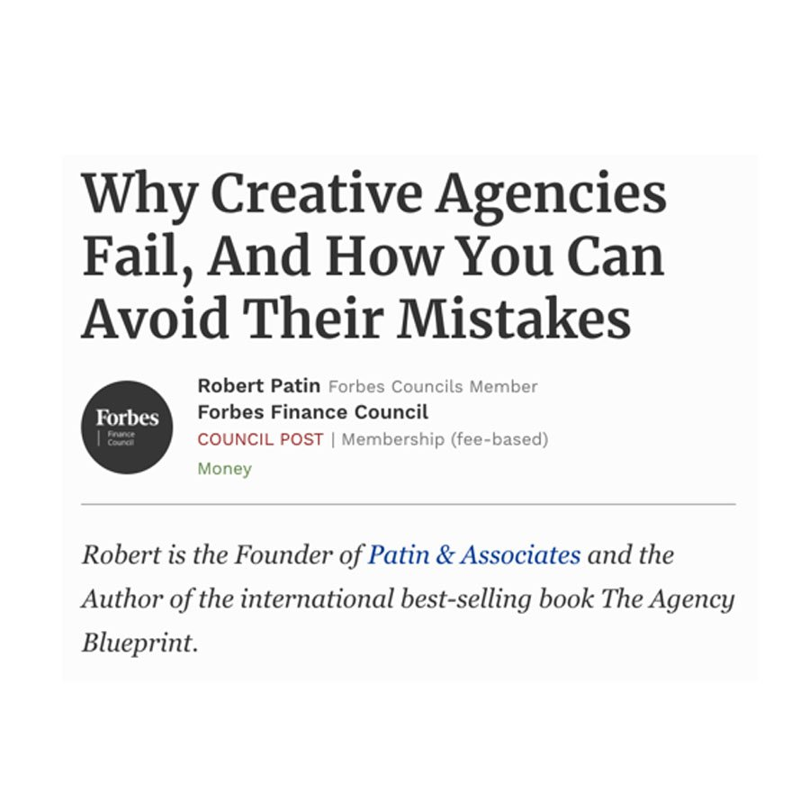 Why Creative Agencies & Marketing Agencies Fail